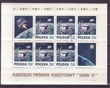 Polen Nr.  Block  47 gest.  Lunochod 1 sowjetisches Mondauto auf dem Mond    -3-
