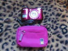 Nikon COOLPIX L26 16.1 MP Digital Camera - Red + Case