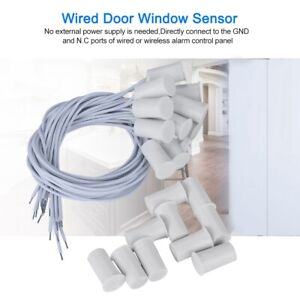 10PCS Wired Door Window Sensor gnetic Switch for Home Alarm System 300