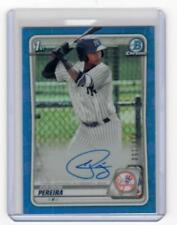 Everson Pereira 2020 Bowman Chrome Blue Refractor Auto #036/150 New York Yankees