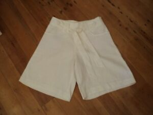 only sugar white shorts linen 1940s cut hollywood NWOT