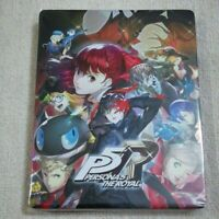 """PERSONA 5  """" Steel book Only """" THE ROYAL Playstation 4 Limited From Japan"""