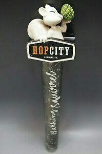 HOPCITY BREWING BEER TAP HANDLE VINTAGE ADVERTISEMENT