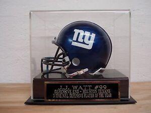 J.J. Watt Football Mini Helmet Display Case W/ A Houston Texans Nameplate