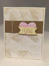 """Card Kit Set Of 4 Stampin Up """"Just For You"""" Dry Embossed Heart Kraft"""