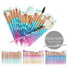 20PCS Eye Make-up Brushes Diamond Unicorn Eyeshadow Eyebrow Blending Brush Set