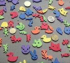 102 siluetas de animales y vegetales  goma EVA, 24mm de alto, 6 colores  #Scrap