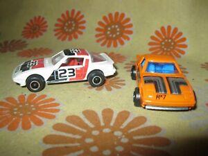 TBE Lot x2 Ancienne MAJORETTE MAZDA RX7 N°257 BLANC 23 et ORANGE Miniature 1:56