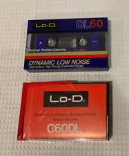 New listing 2 Ultra Rare Lo-D (Hitachi) C60 Dl And Dl 60 Type I Audio Cassette Tapes.