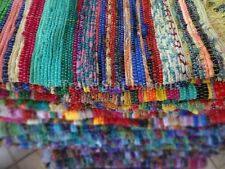 Set Of 5 Hand Loomed Rag Rug Indian Area Rug Reversible Carpet Chindi Floor Mat
