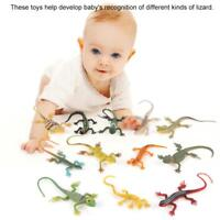12pcs Plastic Small Lizard Gecko Figures Realistic Model Kids Toys Colorful