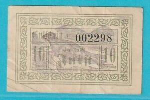 Notgeld 26548 Insel Juist Gutschein 10 Pfennig aus 1920 Seehund
