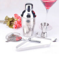 Stainless Steel 5 Piece Cocktail Shaker Set Cocktail Drinks Bar Set