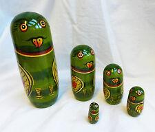 Hand Painted Parrot Russian Doll / Dolls - Nesting set of Five Dolls - BNIB