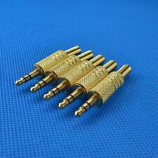 "20pcs 3.5mm 1/8"" Stereo Male Audio TRS Jack Plug Adapter Connector Gold Plated"