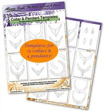 Collar & Pendant Templates Pack - Make your own stunning bead embroidered collar