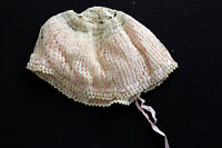 HAND MADE VICTORIAN COTTON LACE AND SILK NIGHT CAP