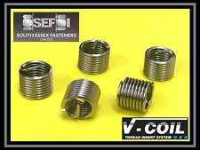 M14 x 1.25 12.4mm  V Coil-Fits Helicoil Spark Plug Thread Repair Inserts (QTY 5)