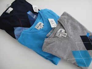 XS,S,M or L  Children's Place Long Sleeve boys  V-Neck Sweaters Multicolor