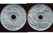 GRECE  20 lepta 1969