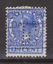 NVPH Netherlands Nederland 185 PERFIN F Wilhelmina Veth 1926