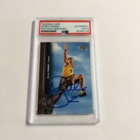 Derek Fisher Lakers 1996 Upper Deck Rookie Card Autograph PSA Certified