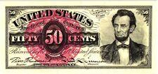 "TIM PRUSMACK SIGNED ""US 50 CENT FRACTIONAL"" CURRENCY, 167/250 MINT"