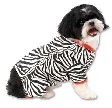 Petrageous Size Medium Black White Zebra Buzz Pajamas With Red Trim For Dogs