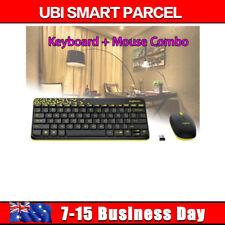 Logitech MK240 2.4Ghz Wireless Desktop Mouse and Keyboard Combo Spill-proof HOT