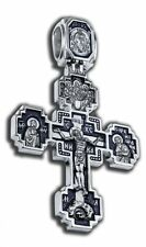 Russisch-Orthodoxe Silber 925   Kreuz. Крест Святой Илья Пророк.