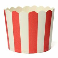 Cupcake Paper Cake Case Baking Cups Liner Muffin Kitchen Baking Red Stripes F5P8