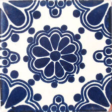 #C028) Mexican Tile sample Ceramic Handmade 4x4 inch, GET MANY AS YOU NEED !!