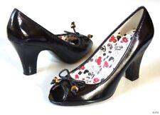new MARC JACOBS Miss Marc black open-toe BOW shoes pumps heels 39.5 9.5 - CUTE