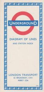 LONDON UNDERGROUND TUBE MAP 1963 (REF 163)