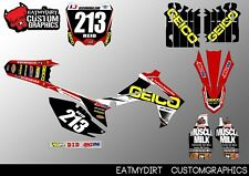 HONDA CRF 250 2014 450 2013-2016 CUSTOM GRAPHICS STICKERS MOTOCROSS DECALS MX