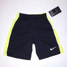 Nike Boys Shorts Black Yellow Size 4 XS
