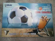 CARTOLINA VIAREGGIO 50 coppa CARNEVALE 1998 calcio football postcard Cup vintage