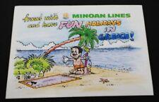 alter Aufkleber MINOAN LINES Holidays in Greece 80er Sticker