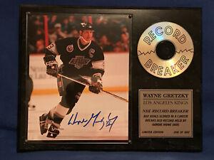 Wayne Gretsky Beautiful record-breaking Signature plaque