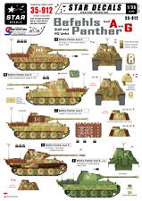 1,35 personnel et des réservoirs HQ autocollants pour befehls panther ausf D Star stickers 35-877