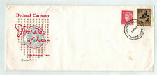 1966 Decimal Currency Fdc 4c & 10c Long Royal Cover
