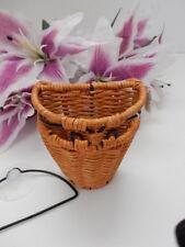 Princess House Rattan Metal Wicker Organizational Hanging Basket #2144A NIB