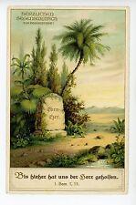 Ebenezer Gravestone RARE Antique German Birthday Card BIBLE Deutsche AK 1910s