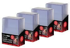 """40 Ultra Pro 3"""" X 4"""" 130 pt Super Thick Toploaders card storage (4 Packs)"""