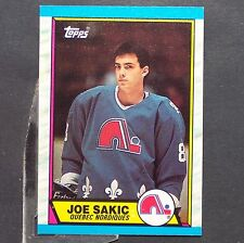 JOE SAKIC  RC  1989/90  Topps  #113  Quebec Nordiques  Colorado Avalanche Rookie