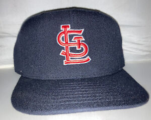 Vtg St Louis Cardinals NEW ERA fitted hat cap size 7 1/2 90s Gray Brim Usa Made