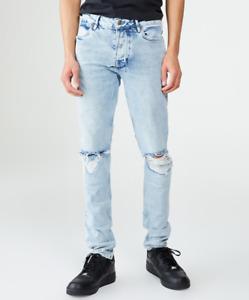 New Mens Ksubi Van Winkle Overkast Sliced Ripped Skinny Jeans RRP $379.00 (31)