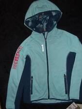 NWT ~ REEBOK 2-tone teal hoodie full-zip PLAYDRY jacket ~ girls XL