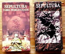 3 VHS &1 BEST OF CD SEPULTURA LIVE BARCELONA THIRD WORLD CHAOS WHAT WE ARE METAL