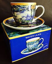 "Collectable Leonardo Collection ""Water Lilies"" Fine Bone China Cup & Saucer Set"